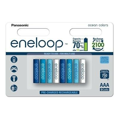 8x AAA Panasonic Eneloop Ocean Limited Color Edition BL196 NL
