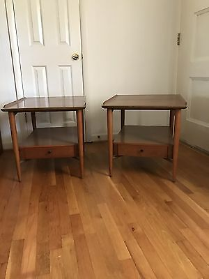 Mid Century Modern Set Of 2 End Tables And Coffee Table Danish Design Morganton