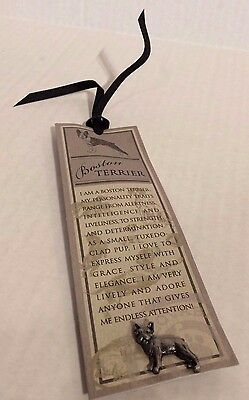 Boston Terrier Pewter Pin with Bonus Bookmark Russ Purebred Puppies Collection