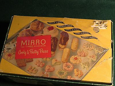 Vintage Mirro Cooky and Pastry Press In Original Box, Model 358 AM