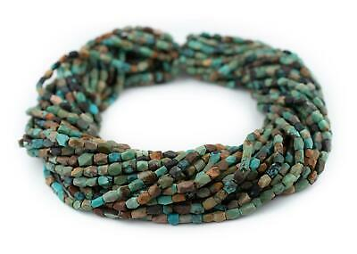 Faceted Rectangular Afghani Turquoise Beads