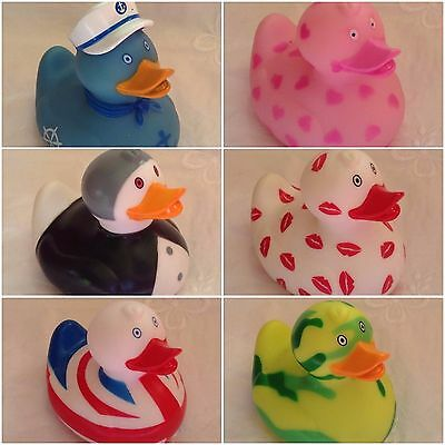 Colourful PVC Bath Ducks ~ 6 Styles ~ For Baby age 0+ ~ Safe & Fun ~ Brand New
