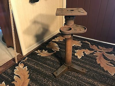 Antique Vintage Cast Iron Industrial Table Base Bench Machine Age Steampunk!