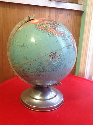 """RARE ANTIQUE VINTAGE  10"""" REPLOGLE 10 INCH Precision Globe USSR Other Countries"""