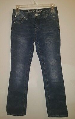 Justice jeans girls size 12S blue jeans EUC