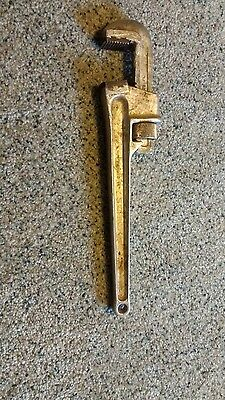 "Schick Forged Aluminum 14"" Pipe Wrench"