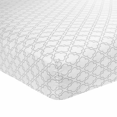 Carter's Cotton Fitted Crib Sheet, Grey Trellis