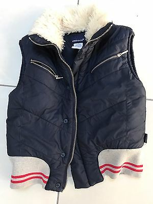 Boys 7 Years Puffer Vest FRED BEAR Very Good Clean Condition
