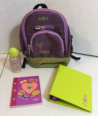 """AMERICAN GIRL DOLL Backpack Set For 18"""" Dolls with accessories"""