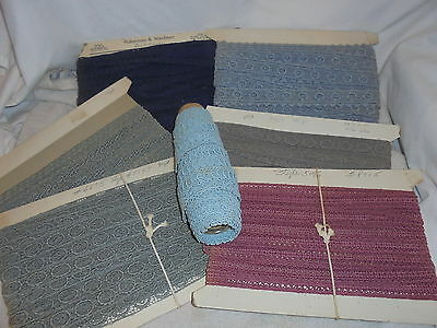 Vintage embroidered lace trim large mixed lot many yards
