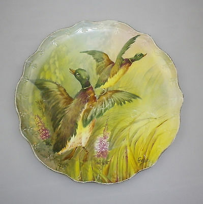 Jean Pouyat, Limoges, France Handpainted Charger signed Golse