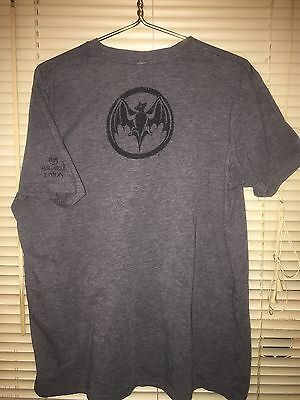 Bacardi Limon Citrus Rum Short Sleeve Graphic T-Shirt w Bat Logo Sz XL Promo