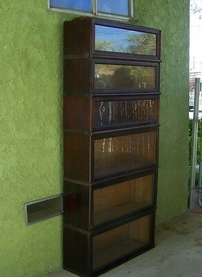 Macey 6 book sections with top- lawyer/Barrister bookcase- So Ca.Lancaster Calif