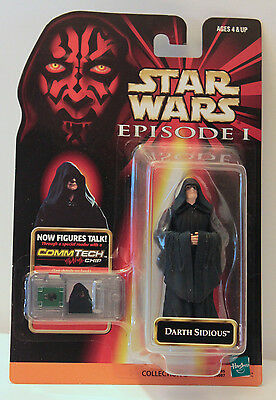 Star Wars DARTH SIDIOUS + CommTech Talking Chip* - Collection 2 NIB