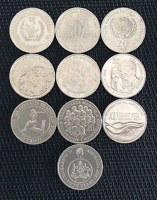 Australian 20 Cent Commemorative Coin Set - 10 Coins