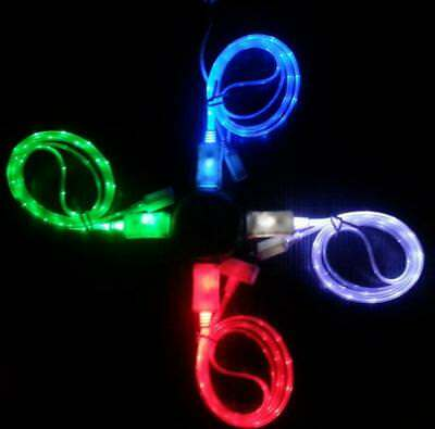 LED Light-up Glow USB Data Sync Charger Cable For iphone/Samsung/ipad