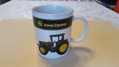 John Deere Coffee Mug Cup White with Tractor on sides 12 oz