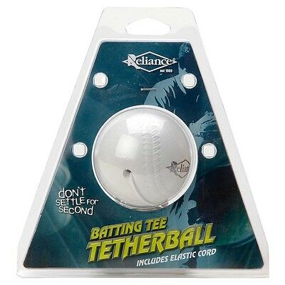 Reliance BATTING TEE TETHER BALL+ Elastic Cord, Solid Sponge Rubber *Aust Brand