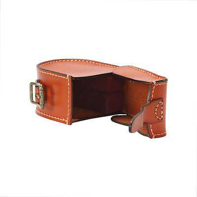 Tourbon Real Leather Reel Case Fly Fishing Carry Pouch Box Spinning Storage-AU