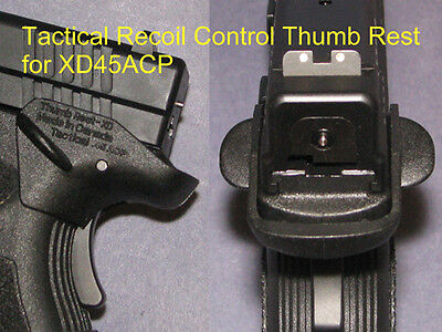 Recoil Control Thumb Rest Springfield XD45 -  fit holster  #1760