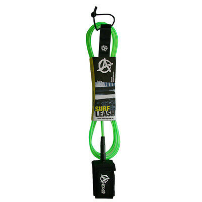 Anticorp 6 Ft Cl Green Surfboard Leash Leg Rope Dbl Swv Made In Taiwan Not China
