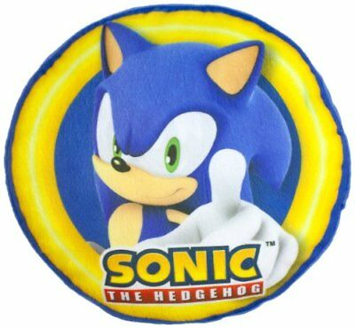 Sonic the Hedgehog Spin Round Shaped Cushion - Official Merchandise - NEW