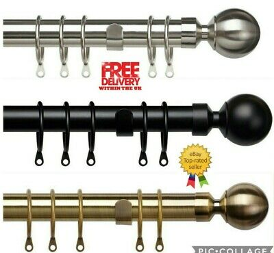 Speedy Pristine 25Mm-28Mm Metal Curtain Pole With Ball Finial End