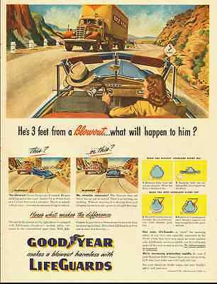 1948 vintage ad for Goodyear Lifeguard Tires  -050512
