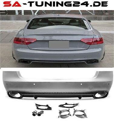 Für Audi A5 8T Heck RS5 Look Diffusor Wabengrill Stoßsange Grill 2008-2016 #19
