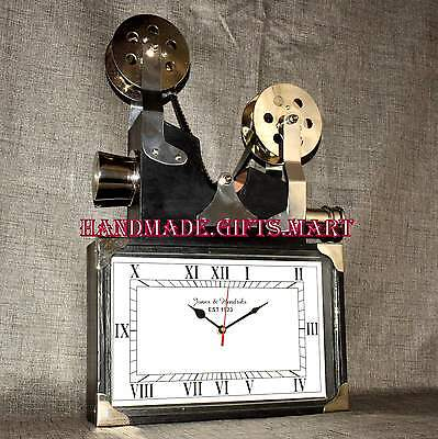 Vintage Retro Nautical Camera Reproduction Home Replica Clock Wooden Collectible