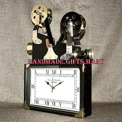 Big Vintage Retro Nautical Camera Reproduction Home Replica Clock Wooden gift
