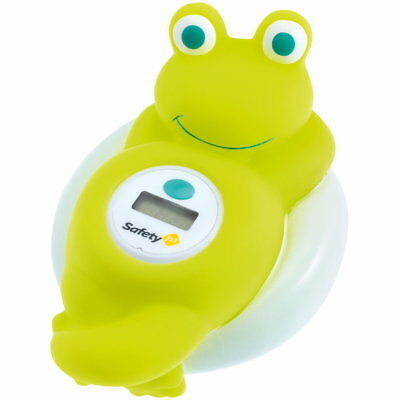 Elektronisches Kinder Badethermometer Frosch von Safety First LCD Badthermometer