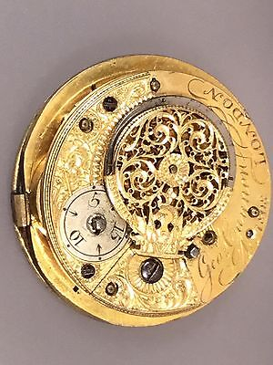 Georgian Verge Fusee Pocket Watch Movement By George Cannon London 1808