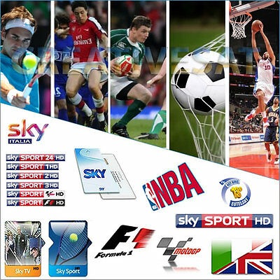 Sky Italia HD Decoder + SkyTV Sport HD Viewing Card ( Expiry 14/10/2017 )
