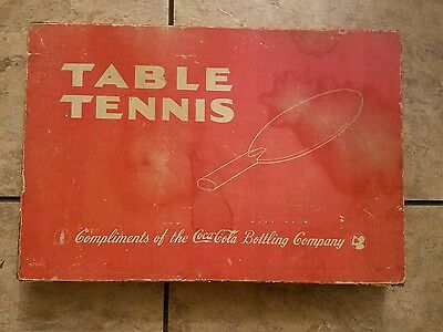 Vintage 1940's to 1950's Coca Cola Table Tennis / Ping Pong Game in Original Box