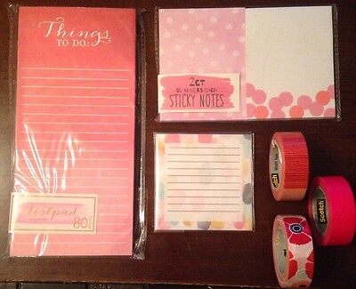 Target One Spot Stationary And Washi Tape Lot Listpad Sticky Notes NWT NEW