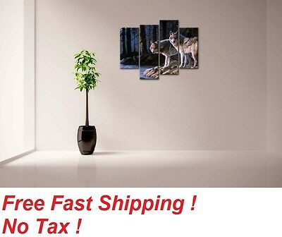 Modern Art Painting Picture Canvas Print Unframed Home Wall Decor Animal 4 PCS