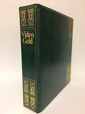 VHS TAPE - VINTAGE BOOK EFFECT STORAGE DISPLAY CASES - HOLDS 4 x Vhs Tapes