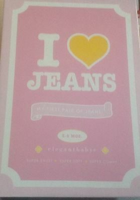 I LOVE JEANS - Elegant Baby- my first pair of jeans - 3-6 months - BLUE JEANS