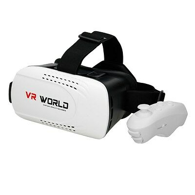Smartphone 3D Brille VR World Box Reality mit Bluetooth Gamepad Movie Virtual