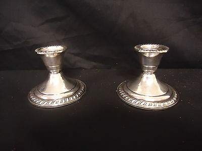 Vintage Sterling Silver Candlesticks Weighted