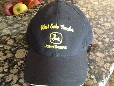 John Deere Black  Cap Hat West Side Tractor New