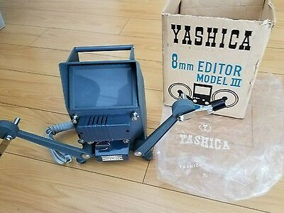 Yashica 8mm Editor Model lll Solid all metal body orig box Made in Japan Vintage
