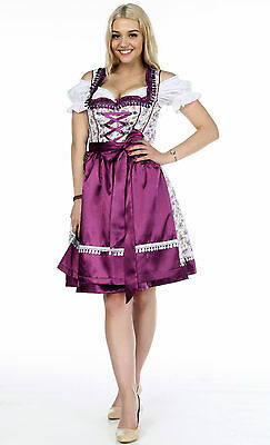 Germany,German,Trachten,May,Oktoberfest,Dirndl Dress,3-pc.Sz.10,Purple, Lilac