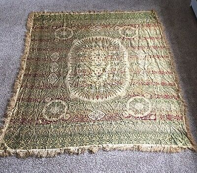 Victorian Antique Edwardian Embroidered Paisley Piano Table Shawl Cloth
