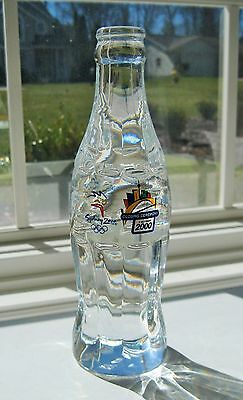 Coca Cola Crystal Bottle -2000 Olympics,Sydney, AUS -Closing Ceremony- 858/2000