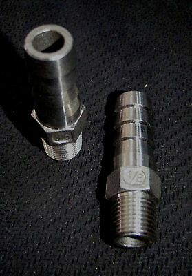 """Hb-012037 Stainless Steel Hose Barb 1/8"""" Npt - 3/8"""" Hose Pipe"""
