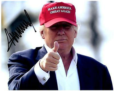 President Donald Trump signed 8x10 Photo Picture autographed VERY NICE + COA