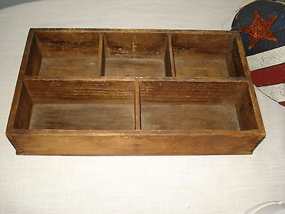 Vintage Antique Primitive Wood Wooden Shadow Wall Utility Box Sections