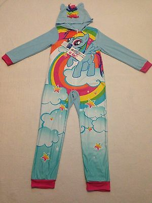 NWT New My Little Pony Pajamas big Girls Zip Up Onesie Blanket Sleeper Size  10 6b046ba79